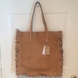 Michael Kors Collection Woven Leather Tote